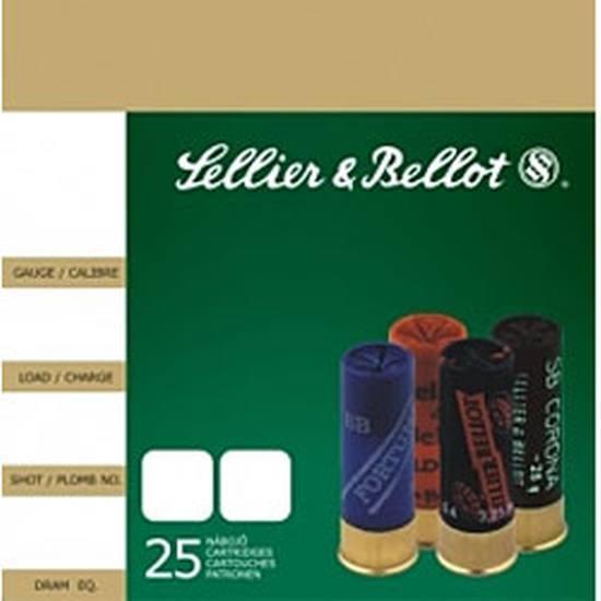 Sellier & Bellot SB12BSF Shotgun 12 Ga 2.75 Lead 12 Pellets 1 Buck 25 Bx  10 Cs in.