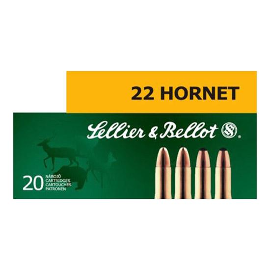 Sellier & Bellot SB22HB 22 Hornet Soft Point 45 GR 20Box|90Case