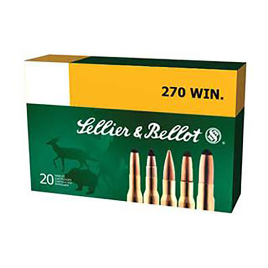 Sellier & Bellot SB270A Rifle 270 Winchester 150 GR Soft Point 20 Bx| 20 Cs