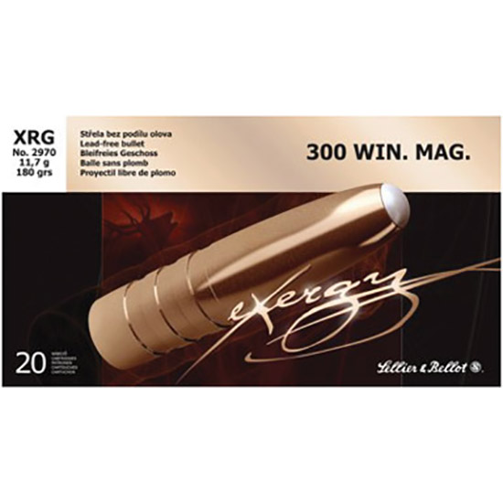 Sellier and Bellot EXERGY 300WIN 180GR XRG 20rds