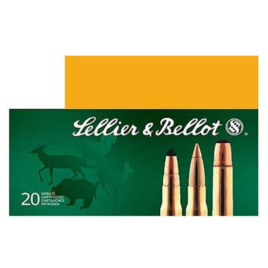 Sellier & Bellot SB308C Rifle 308 Win|7.62 NATO 180 GR Soft Point 20 Bx| 25 Cs