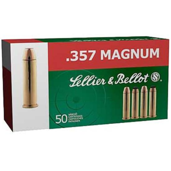 Sellier & Bellot SB357B Handgun 357 Magnum 158 GR Soft Point 50 Bx| 20 Cs