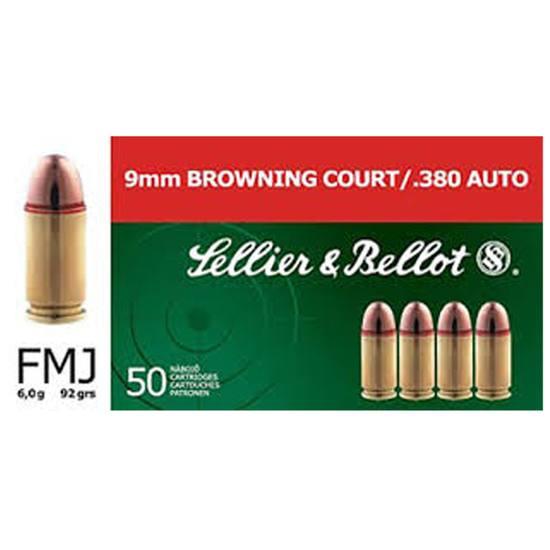 Sellier & Bellot SB380A Handgun 380 ACP 92 GR FMJ 50 Bx| 20 Cs