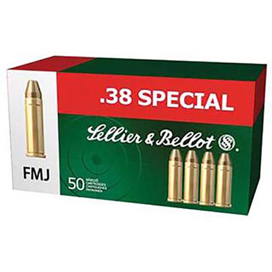 Sellier & Bellot SB38P Handgun 38 Special 158 GR FMJ 50 Bx| 20 Cs