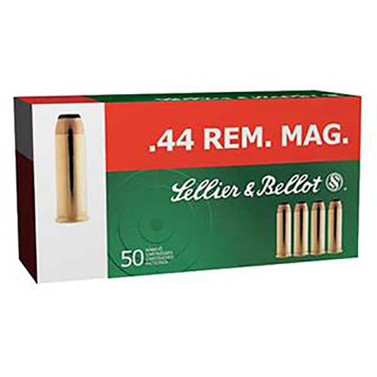 Sellier & Bellot SB44A Handgun 44 Rem Mag 240 GR Soft Point 50 Bx| 12 Cs