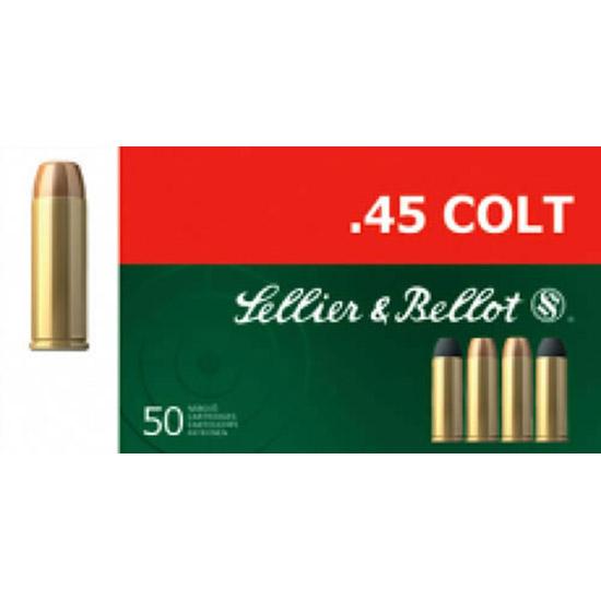 Sellier & Bellot SB45D Handgun 45 Colt (LC) 250 GR LFN 50 Bx| 12 Cs