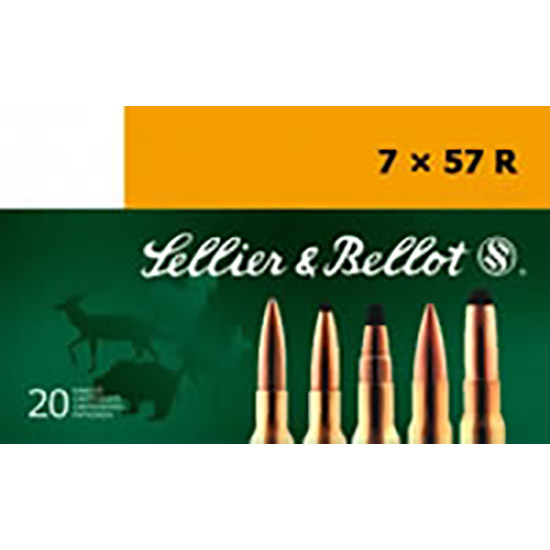 Sellier & Bellot SB757RA Rifle Hunting 7x57R 173 GR SPCE (Soft Point Cut-Through Edge) 20 Bx| 20 Cs