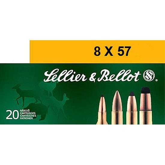 Sellier & Bellot SB857JRA Rifle 8X57mm JR 196 GR Soft Point 20 Bx| 20 Cs