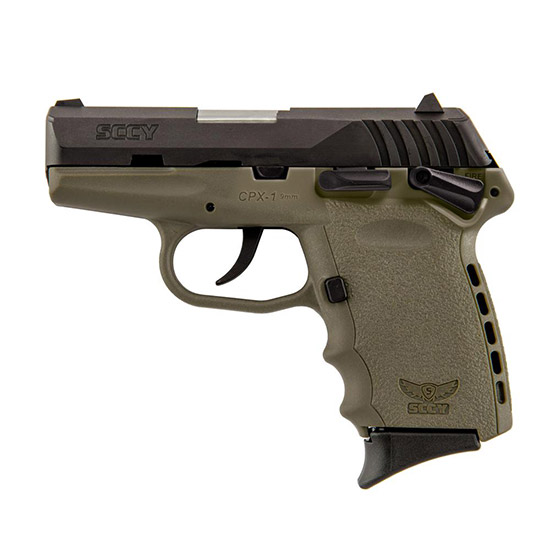 SCCY Industries CPX1CBDE CPX-1 Double 9mm 3.1 10+1 Flat Dark Earth Polymer Grip|Frame Grip Black Nitride Stainless Steel in.