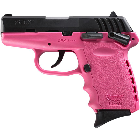 SCCY Industries CPX1CBPK CPX-1 Double 9mm 3.1 10+1 Pink Polymer Grip|Frame Grip Black Nitride Stainless Steel in.
