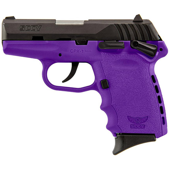SCCY Industries CPXICBPU CPX-1 Double 9mm 3.1 10+1 Purple Polymer Grip|Frame Grip Black Nitride Stainless Steel in.