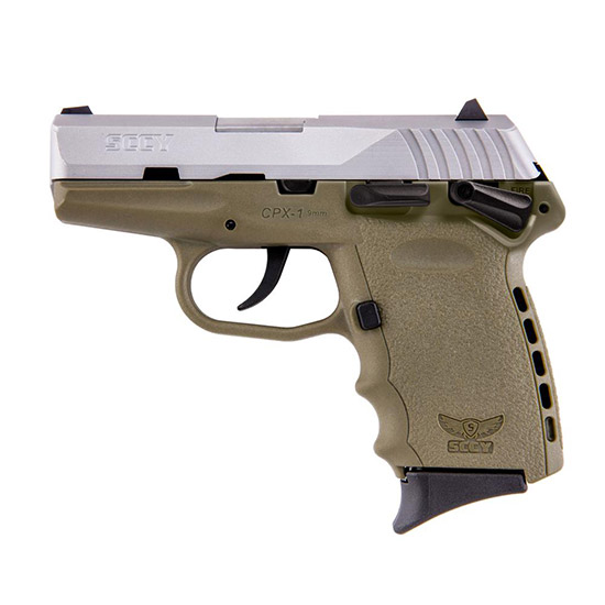 SCCY Industries CPX1TT CPX-1 Double 9mm 3.1 10+1 Flat Dark Earth Polymer Grip|Frame Grip Stainless Steel in.