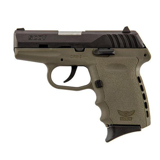 SCCY Industries CPX2CBDE CPX-2 Double 9mm 3.1 10+1 Flat Dark Earth Polymer Grip|Frame Grip Black Nitride Stainless Steel in.