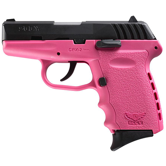 SCCY Industries CPX2CBPK CPX-2 Double 9mm 3.1 10+1 Pink Polymer Grip|Frame Grip Black Nitride Stainless Steel in.