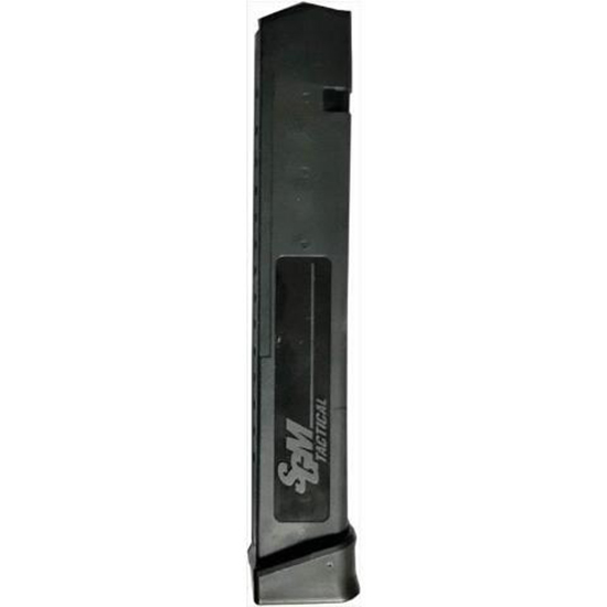 SGM Tactical Magazine, 9MM, 33rd, Fits Glock 17, Black Finish SGMT9G33R
