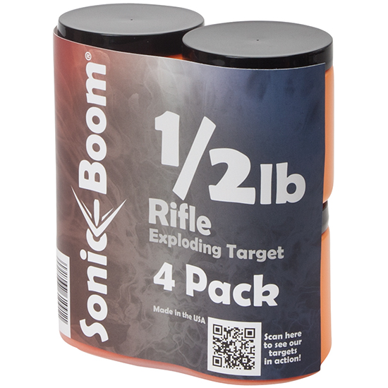 Sonic Boom Exploding Target - 1/2lb - 4 Pack