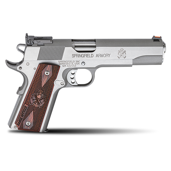 Springfield Armory PI9124L 1911 Range Officer 45 Automatic Colt Pistol (ACP) Single 5 7+1 Cocobolo Grip Stainless Steel in.