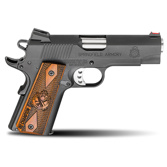 Springfield Armory PI9137L 1911 Range Officer Champion 9mm Luger Single 4 9+1 Cocobolo Grip Black Parkerized Aluminum Frame Black Parkerized Slide in.