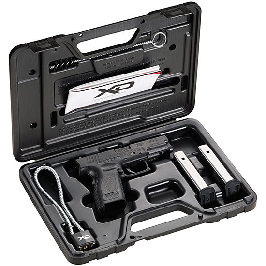 Springfield Armory XD9101 XD  Essential Pkg CA Appr 9mm Luger Double 4 10+1 Black Polymer Grip|Frame Black Melonite Slide in.