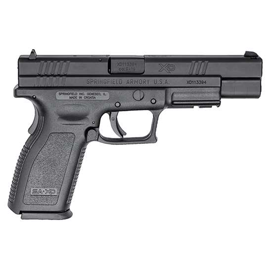 Springfield Armory XD9401 XD Service *CA Compliant* Double 9mm Luger 5 10+1 Black Polymer Grip|Frame Grip Black Melonite in.