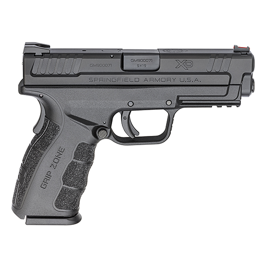 Springfield Armory XDG9101 XD Mod.2 Service 9mm Luger Double 4 10+1 Black Polymer Grip|Frame Black Melonite Slide in.