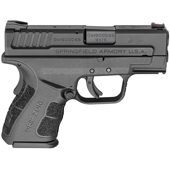 Springfield Armory XDG9801 XD Mod.2 Sub-Compact 9mm Luger Double 3 10+1 Black Polymer Grip|Frame Black Melonite Slide in.