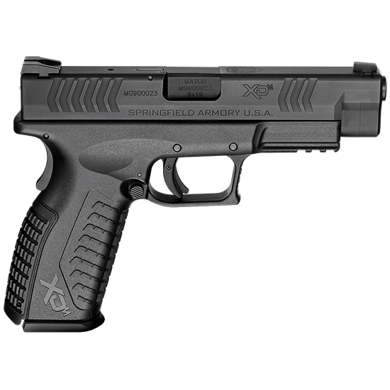 Springfield Armory XDM9201HCE XD(M) Full Size 9mm Luger Double 4.5 19+1 Black Interchangeable Backstrap Black Polymer Frame Black Melonite Slide in.
