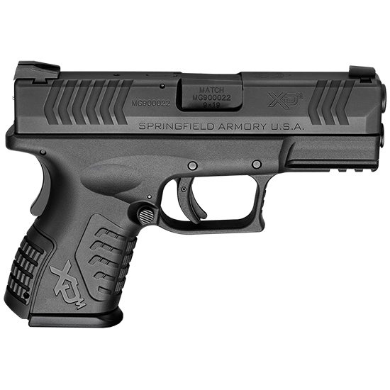 Springfield Armory XDM9389CBNJE XD(M) Compact 9mm Luger Double 3.8 13+1 Black Interchangeable Backstrap Black Polymer Frame Black Melonite Slide in.