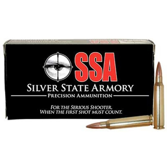Nosler 75020 6.8mm Remington SPC Ammunition Silver State Armory, 90 Grains, Bonded Performance Protected Point, Per 20