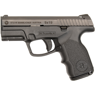 Steyr 39.821.2 S9-A1 Double 9mm 3.6 10+1 Black Polymer Grip in.