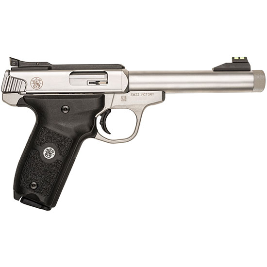 Smith & Wesson 10201 SW22 Victory 22 Long Rifle (LR) Single 5.5 10+1 Black Polymer Grip Stainless Steel in.