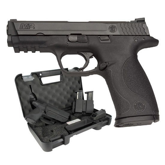 Smith & Wesson 139351 M&P 9 with Carry and Range Kit *MA Compliant* Double 9mm Luger 4.25 10+1 Black Interchangeable Backstrap Grip Black Stainless Steel in.