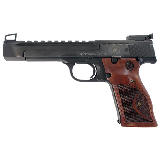 Smith & Wesson 178031 41 Perfromance Center Optic Ready Single 22 Long Rifle (LR) 5.5 10+1 Wood Grip Blued in.