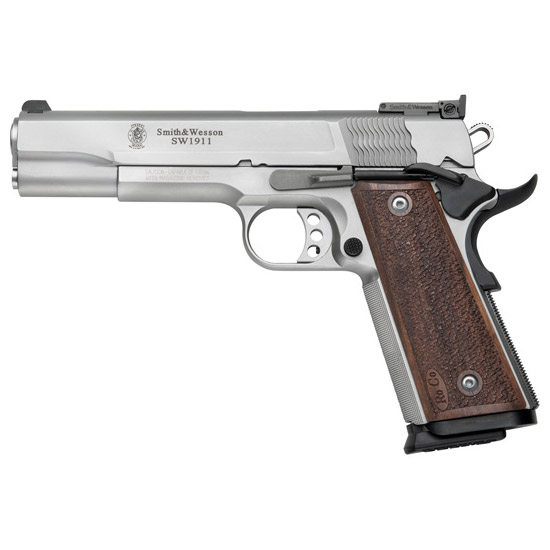 Smith & Wesson 178047 1911 Pro Single 9mm 5 10+1 Wood Grip Stainless in.