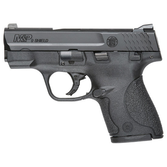 Smith & Wesson 180051 M&P 9 Shield *MA Compliant* Double 9mm Luger 3.1 7+1|8+1 MTS Black Polymer Grip|Frame Black Armornite Stainless Steel in.