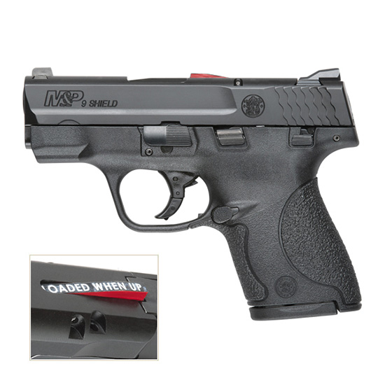 Smith & Wesson 187021 M&P 9 Shield *CA Compliant* Double 9mm Luger 3.1 7+1|8+1 Black Polymer Grip Black Stainless Steel in.