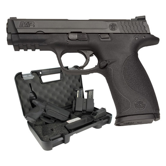 Smith & Wesson 209331 M&P 9 with Carry and Range Kit Double 9mm Luger 4.25 17+1 Black Interchangeable Backstrap Grip Black Stainless Steel in.