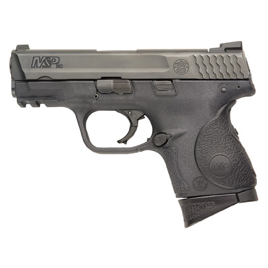 Smith & Wesson 220074 M&P 9 Compact Crimson Trace Lasergrip 9mm Luger Double 3.5 12+1 Black Polymer|Crimson Trace Laser Grip Polymer Frame Black Stainless Steel Slide in.