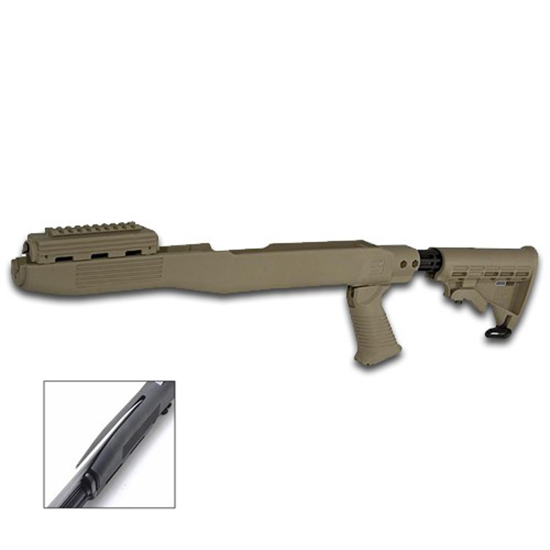 Tapco 16780 Intrafuse SKS T6  Collapsible Stock with Bayonet Cut Composite FDE