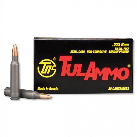 TULA AMMO 223 Rem 55 gr FMJ Steel Case 40/Box