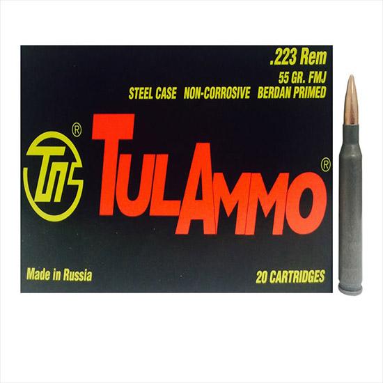 Tulammo TA223552 Centerfire Rifle 223 Remington|5.56 NATO 55 GR Hollow Point 20 Bx| 50 Cs