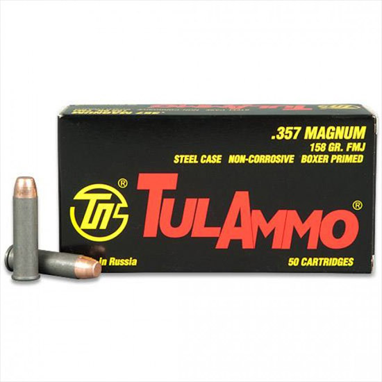 TULA Ammo TULA 357MAG 158GR FMJ 50|1000 TA357158