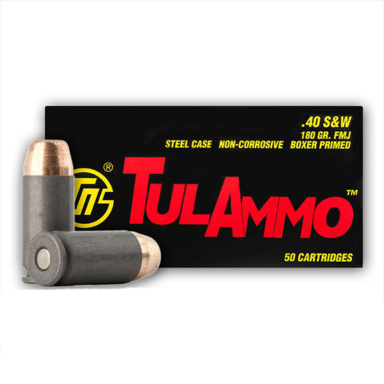 Tulammo TA401800 Centerfire Handgun 40 S&W 180 GR FMJ 50 Bx| 10 Cs
