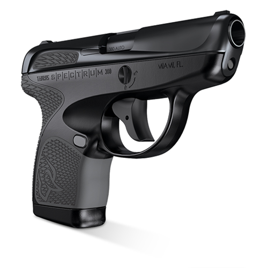 Taurus 1007031102 Spectrum 380 380 Automatic Colt Pistol (ACP) Double 2.8 6+1|7+1 Black Polymer Frame Gray Synthetic Grip Black Carbon Steel Slide in.