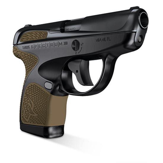 Taurus 1007031119 Spectrum 380 380 Automatic Colt Pistol (ACP) Double 2.8 6+1|7+1 Black Polymer Frame Flat Dark Earth Synthetic Grip Black Carbon Steel Slide in.