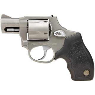 Taurus 2380129UL 380 Mini Revolver Double 380 Automatic Colt Pistol (ACP) 1.75 5 rd Black Rubber Grip Stainless in.