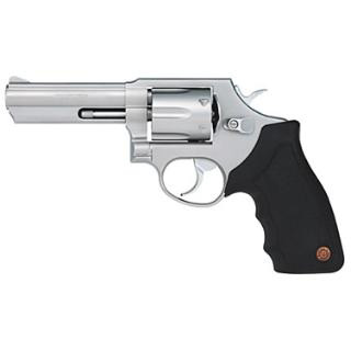 Taurus 2650049 65 Single|Double 357 Magnum 4 6 rd Black Rubber Grip Stainless Steel in.