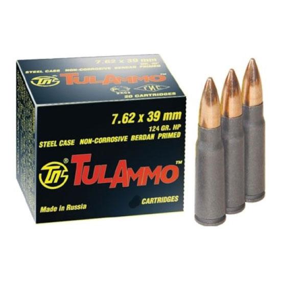 TULA 7.62X39 124GR HP 40/1000