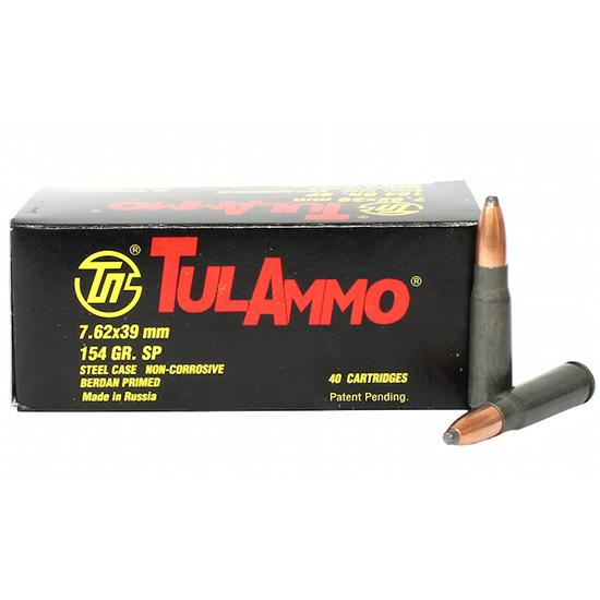 Tulammo UL076214 Centerfire Rifle 7.62X39mm 154 GR Spitzer 40 Bx| 25 Cs