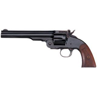 Taylors and Co. 0850 Second Model Schofield Single 45 Colt (LC) 7 6 rd Walnut Grip Blued in.